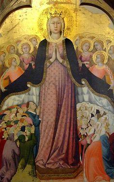 Lippo Memmi - Madonna dei raccomandati - Cappella del Corporale - Duomo di Orvieto