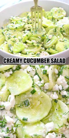 Green Salad Recipes, Cucumber Recipes, Healthy Salad Recipes, Recipes With Cucumbers, Recipe For Cucumber Salad, Juice Recipes, Vegetarian Recipes Videos, Indian Food Recipes, Cooking Recipes