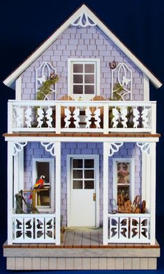 dollhouse from BJ Minis. This looks like one of the cottages from the Methodist Campground