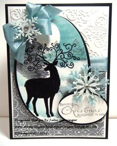 Stamping with Julie Gearinger: Christmas Blessings Deer- PP112 and SC401