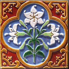 Glazed and Confused: English, American & Continental Victorian Majolica: Majolica Showcase: Minton Majolica Tiles