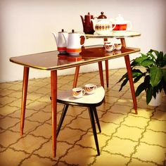 Coffee and plant tables