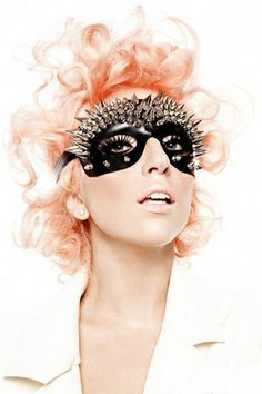 lady-gaga-orange-hair, also, wish I would have had that mask for our masquerade prom Divas, Peach Hair, Pink Hair, Pastel Hair, Apricot Hair, Gold Hair, Sin City 2, The Fame Monster, Lady Gaga Pictures
