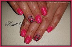 Glitter pink gel polish by RadiD - Nail Art Gallery nailartgallery.nailsmag.com by Nails Magazine www.nailsmag.com #nailart