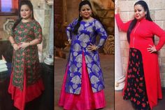 Stylish Outfits Every Plus Size Bride Can Steal From Comedy Queen Bharti Singh Indian Bridal Fashion, Indian Wedding Outfits, Indian Outfits, Wedding Dresses, Evening Dresses Plus Size, Plus Size Maxi Dresses, Plus Size Outfits, Lace Dresses, Plus Size Brides