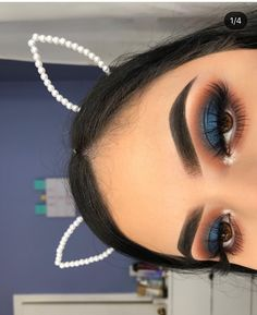 Orange Brown and Dark Sparkly Blue Eye Makeup - blue Brown dark eye makeuplover makeup orange Sparkly EyebagsUnderEyes 439875088605045303 Makeup Eye Looks, Blue Eye Makeup, Eye Makeup Tips, Glam Makeup, Beauty Makeup, Hair Makeup, Orange Makeup, Blue Eyeshadow For Brown Eyes, Makeup Ideas