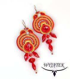 Earrings Iskierka by Wyjatek on Etsy. $75.00 USD, via Etsy.