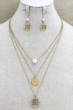 Tory Burch necklace set $20 cheap preppy classy