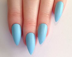 Popular items for blue stiletto nails on Etsy