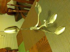 Welded silver plate sponge holder.