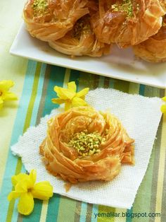 Rose Shaped Baghlava - Recipe is in Farsi
