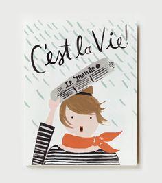 """""""C'est la vie ! """" card - Paris style"""