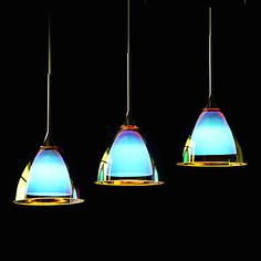 Colorful Glass Modern Bar Pending Single& Triple Lamp with LED Light Source. – GBP £ 149.66