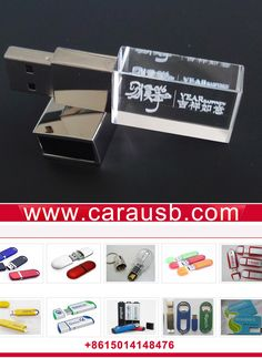 rectangle crystal usb disk customzied product by CaraUSB