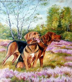 Large realistic LANDSCAPE DOG PORTRAIT from by CanisArtStudio