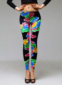 cloud print leggings that remind me of dancheong patterns