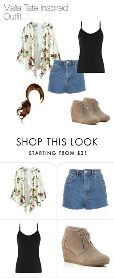 """""""Malia Tate Inspired Outfit"""" by thebanshee24 on Polyvore featuring Topshop, Reiss and TOMS"""