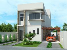 Projetar Casas | Sobrado moderno; 4 quartos, varanda gourmet e mezanino - Cód 50