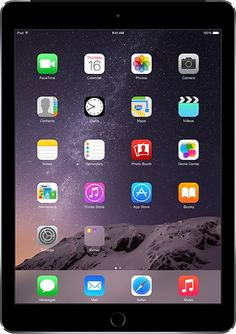 iPad Air 2 - 9.7 Inch. Available in Silver, Gold & Space Gray. 16, 64 or 128 GB. A8X 64-bit Chip with Fingerprint ID. 8 MP Burst Mode Camera & Slo-Mo Video.