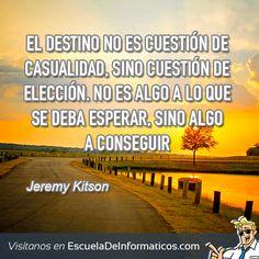 Jeremy Kitson #motivación #tecnología