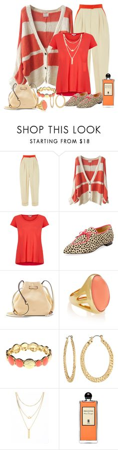 """""""Striped Cardigan"""" by shelley-harcar ❤ liked on Polyvore featuring Delpozo, Splendid, Charlotte Olympia, Vince Camuto, Kenneth Jay Lane, Gloria Vanderbilt, Fragments, Altar'd State and Serge Lutens"""