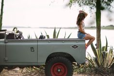 Nothing Goes Together Like a Gorgeous Girl and Land Rover Series III | Airows