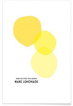 Lemons 2 als Premium Poster von Trabolt Design | JUNIQE