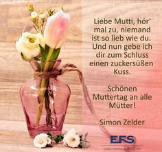 Schönen #Muttertag wünsche allen Müttern. 💪👍💓💕💖👏 #MothersDay #lovemymom #familytime #EFS #Finance #mondsee #mondseeland #sundayfunday Glass Vase, Business, Finance, Mother's Day, Proverbs Quotes, Nice Asses
