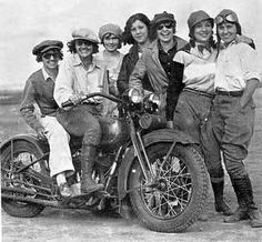 Vintage Photo of Women with Motorcycle