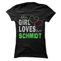 This Girl Love Her SCHMIDT - 99 Cool Name Shirt ! - #estampadas sweatshirt #sweater knitted. LIMITED AVAILABILITY => https://www.sunfrog.com/LifeStyle/This-Girl-Love-Her-SCHMIDT--99-Cool-Name-Shirt-.html?68278