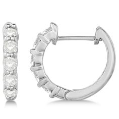 Let her know she's still the one with this hinged hoop diamond huggie style earrings in white gold. Shop for fine jewelry and diamonds at Allurez Jewelers. Beaded Jewelry, Fine Jewelry, Burgundy Nails, Diamond Hoop Earrings, Round Cut Diamond, Jewelry Collection, White Gold, Engagement Rings, Jewels