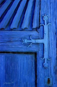 Blue Door, Patzcuaro, Mexico - Giclee Canvas Print