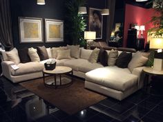 Increase the function of your living room with one of our comfortable sectional sofas! Plenty of space and soft cushions make these pieces perfect for accommodating your family and guests! | Houston TX | Gallery Furniture |