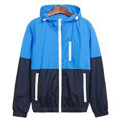 Buy Jacket Men Windbreaker 2018 Autumn Fashion Jacket Men's Hooded Casual Jackets Male Jacket Coat For Men Thin Coat Outwear Coats For Women, Jackets For Women, Fall Jackets, Casual Jackets, Men's Jackets, Womens Windbreaker, Windbreaker Jacket, Bomber Jacket, Moda Emo