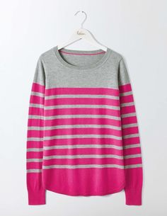 29cf8a04e2c6 Emilie Curved Hem Sweater K0028 Knitted Sweaters at Boden Holiday Wardrobe