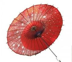 Japanese Cosplay F/S Efficacy Japanese Dance Umbrella Sakura Fubuki Red Color Cosplay from Japan Umbrellas For Sale, Cute Umbrellas, Paper Umbrellas, Sakura Cosplay, Ladies Umbrella, Japanese Paper, Cherry Blossom, Red Color, Oriental