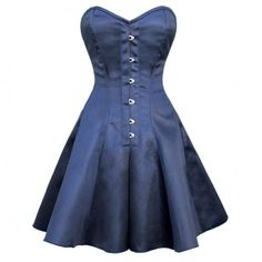 Blue Satin Victorian Corset Dress...a little spray paint and it could be a great Doctor Who TARDIS dress