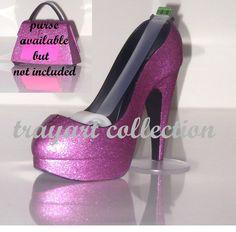 Pink Sparkle High Heel Stiletto Platform Shoe Tape Dispenser Office Supplies Trayart Collection 25 00