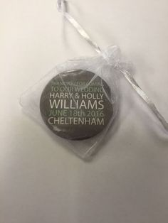 Gorgeous Wedding Favours x Pack of 50 Holly Williams, Jamaican Wedding, Wedding Favor Bags, Personalized Wedding Favors, Badges, Special Occasion, Ebay, Products, Personalised Wedding Favours
