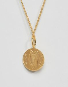 Image 2 of Katie Mullally Gold Plated Irish Shilling Pendant Necklace