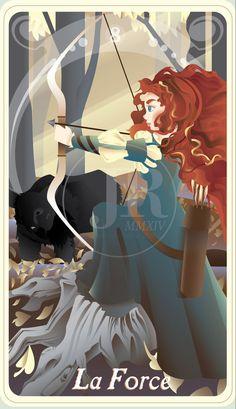 {The Princess Tarot} 'La Force: Merida' by suisei-ojii-sama on DeviantArt