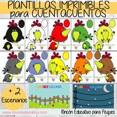diez-gallinas-plantillas-imprimibles Album Jeunesse, Printables, Writing, How To Plan, Math, Reading, Montessori, Toddlers, Birds