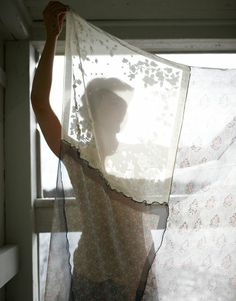 Sheer scarves stitched together for a curtain.  Romantic Inspiration ♥ Романтично вдъхновение | 79 Ideas