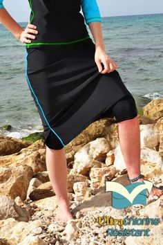 Corredora Classic Long Water Skirt with Piping Accents/ Hidden Long Swim Shorts - one of our many options from HydroChic and now is the perfect season for bringing your indoors! Modest Wear, Modest Outfits, Modest Clothing, Sport Clothing, Girl Clothing, Apostolic Fashion, Modest Fashion, Apostolic Style, Modest Workout Clothes