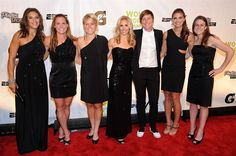 Carli Lloyd, Christie Rampone, Lori Lindsey, Heather Mitts, Abby Wambach, Alex Morgan and Heather O'Reilly (L-R) attend the 32nd Annual Salute To Women In Sports Gala.