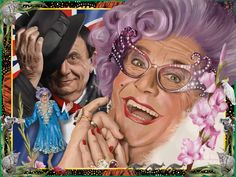 ©️Adam Howard / Adam Howard Art 2021 Barry Humphries, Dame Edna, Award Winner, Gifts For Friends, United States, Portrait, Illustration, Anime, Fictional Characters
