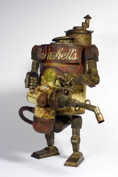 Steampunk Art ! Yes please! I want to make my own line of droids