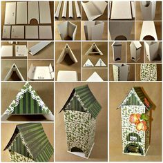 Creative Ideas and DIY Projects to Inspire Your Daily Life Cardboard Crafts, Wooden Crafts, Diy And Crafts, Paper Crafts, Tea Bag Storage, Diy Tea Bags, 3d Templates, Tea Holder, Outdoor Crafts