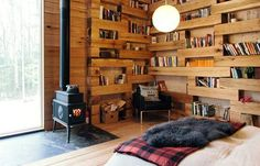 """The architects from Studio PADRON designed a particularly cosy wooden house, in the very Norwegian style. This construction called Hemmelig Rom Cabin (""""th Apartment Design, Apartment Therapy, Secret Rooms, Upstate New York, Cozy Cabin, Design Moderne, Cabins In The Woods, Modern Architecture, Modern Design"""
