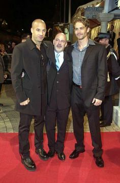 Paul Walker - Fast and Furious with Vin Diesel and Director ROB COHEN for the original movie